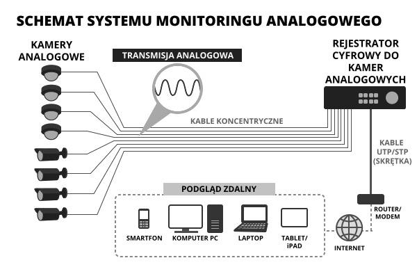 System monitoringu analogowego