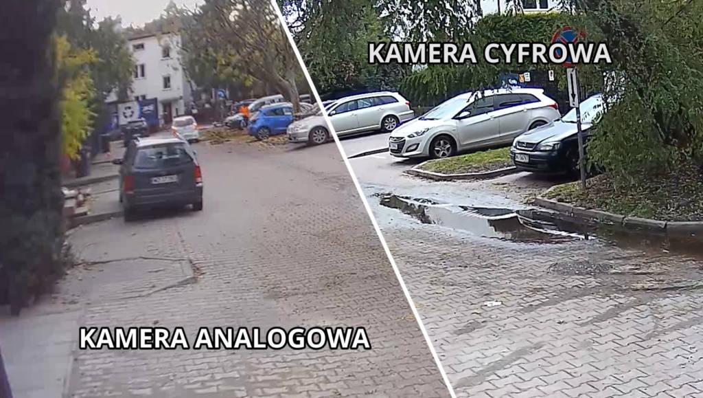 porównanie kamery cyfrowej i analogowej